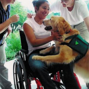 Pet therapy volunteers